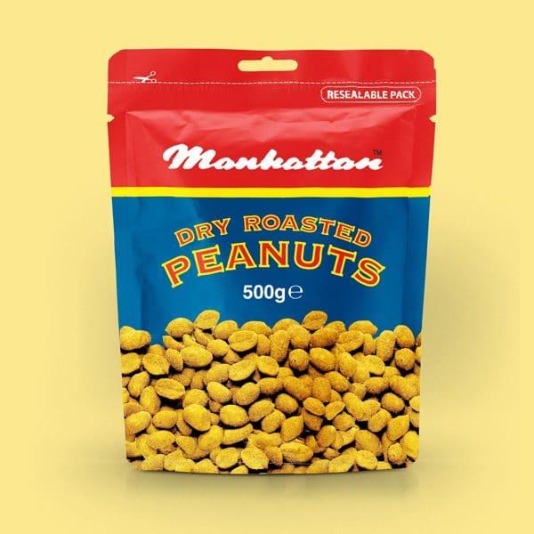 Manhattan 500g Dry Roasted Peanuts