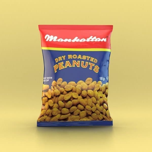 Manhattan 100g Dry Roasted Peanuts