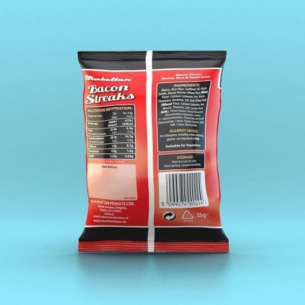 Manhattan Bacon Streaks - 12 x 25g Packets