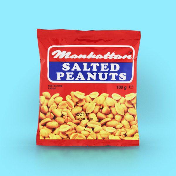 Manhattan 100g Salted Peanuts