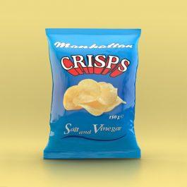 Manhattan Salt and Vinegar Crisps - 12 x 150g packets
