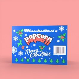 Manhattan Christmas Box 12 plus 3 free packets of 30g Salted Popcorn