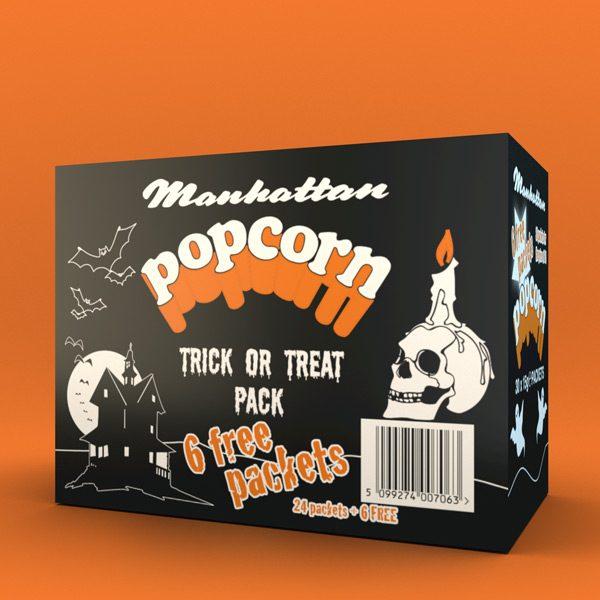 Manhattan Halloween Box 24 plus 6 free packets of 15g Salted Popcorn