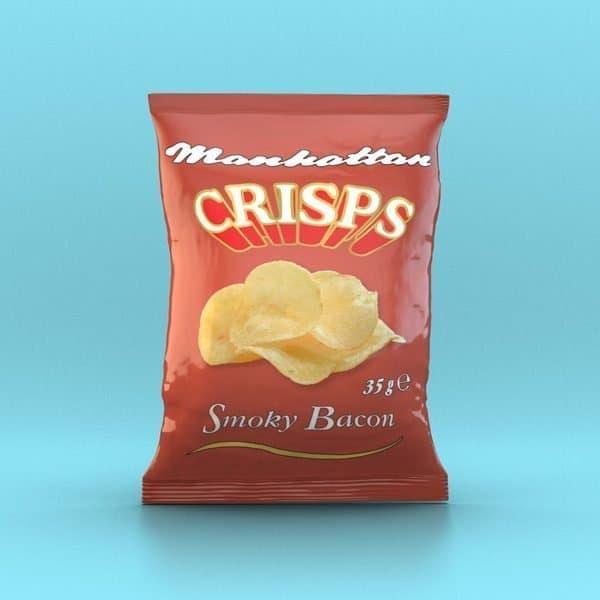 Manhattan Smoky Bacon Crisps - 32 x 35g packets