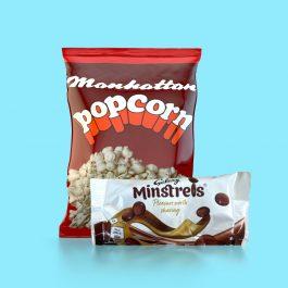 Combo Pack - A case of Manhattan Popcorn plus a case of Minstrels.