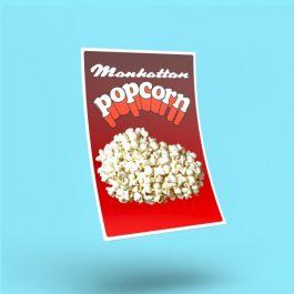 Manhattan Popcorn Sticker
