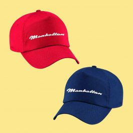 Manhattan Baseball Cap - Red and Navy